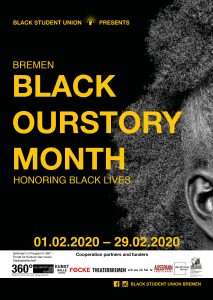 Poster Black OurStory Month, Bremen 2020
