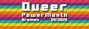 Banner Queer Power Month 2020 Bremen