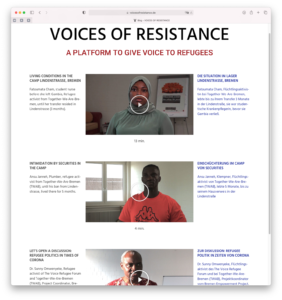 Screenshot Voices of Resistance